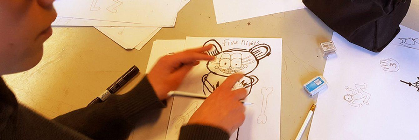 Online workshop Cartoontekenen